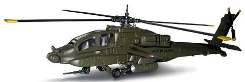 Ah-64 Apache Helicopter  (1:55), New Ray Diecast Item Number 25527