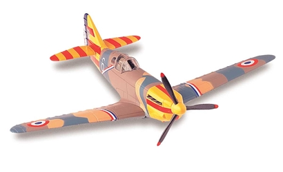 Dewoitine D.520 (1:72) Easy Build Model Kit, Easy Build Toy Airplane Models Item Number IN-EZD520