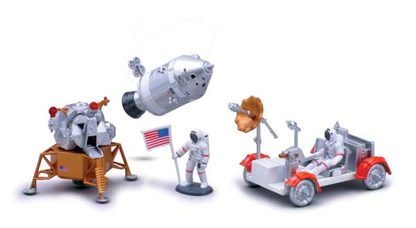 Easy Build Lunar Rover Model Kit, Easy Build Toy Airplane Models Item Number IN-SPLR