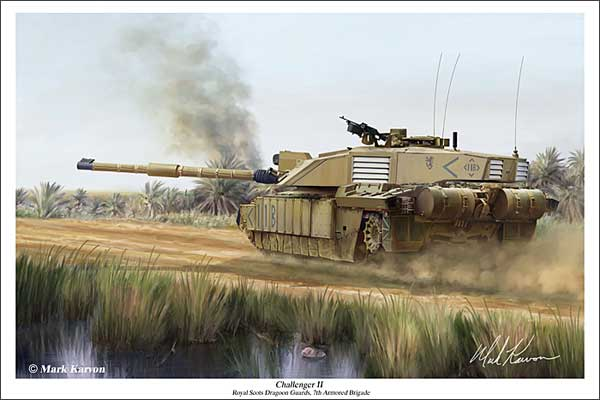 "Challenger II Tank ""Challenger II"" (Fine Art Print), Mark Karvon Aviation Art Item Number MKNCII"