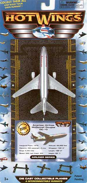 "American Airlines DC-10  (Approx. 5""), Hot Wings Toy Airplanes Item Number hw15103"