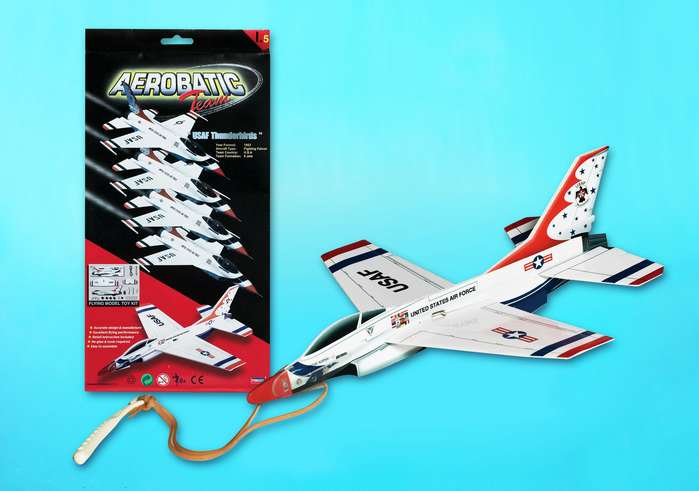 F-16 Thunderbird Glider With Launcher, Lyonaeec Item Number LY66005