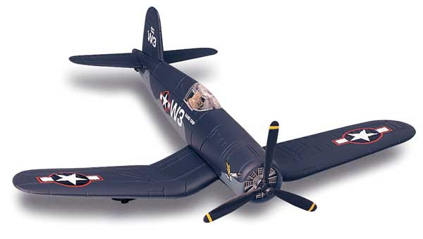 F4U Corsair Model Plane Kit (1:72) Easy Build, Easy Build Toy Airplane Models Item Number IN-EZF4U