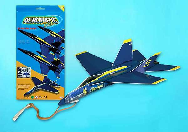 F-18 Blue Angels Glider With Launcher, Lyonaeec Item Number LY66006