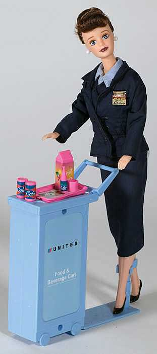United Airlines Flight Attendant Doll, Daron Toys Item Number DA700