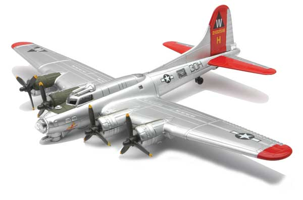 B-17 Flying Fortress - Silver (1:144) Easy Build Model Kit, Easy Build Toy Airplane Models Item Number IN-EZB17S