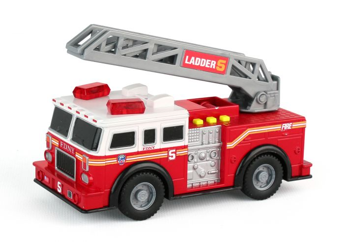 FDNY Mighty Fire Truck W/Light & Sound by Realtoy Diecast Toys item number: RT8735