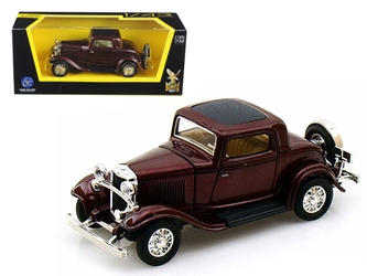 1932 Ford 3 Window Coupe Burgundy (1:43), Road Signature Item Number ROS94231BUR