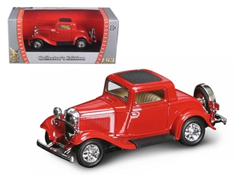 1932 Ford 3 Window Coupe Red (1:43), Road Signature Item Number ROS94231R