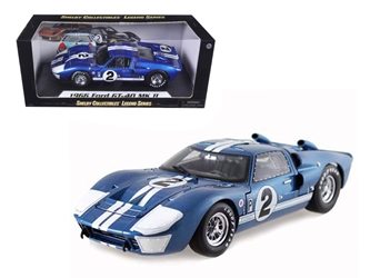 1966 Ford GT40 GT 40 Mark II #2 Blue 12 Hours of Sebring 1/18 Diecast Car Model by Shelby Collectibles