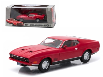 1971 Ford Mustang Mach 1 Red Greenlight Exclusive 1/43 Diecast Model Car by Greenlight