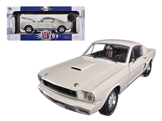 1965 Ford Shelby Mustang GT350R Prototype Wimbledon White 1/24 Diecast Car Model by M2 Machines