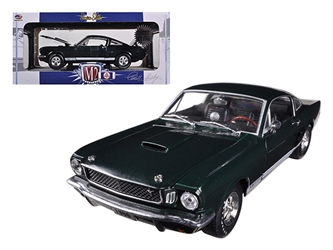 "1966 Ford Shelby Mustang GT350S ""Factory Supercharged"" Ivy Green Metallic 1/24 Diecast Car Model by M2 Machines"