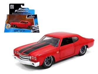 "Doms Chevrolet Chevelle SS Red ""Fast & Furious"" Movie 1/32 Diecast Model Car by Jada"