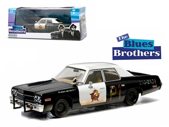"1974 Dodge Monaco ""Bluesmobile"" Blues Brothers Movie (1980) 1/43 Diecast Model Car by Greenlight"