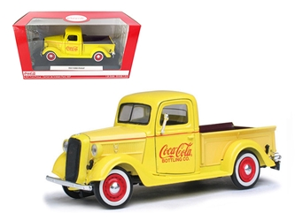 1937 Ford Pickup Truck Coca Cola Yellow (1:24) Truck, Motorcity Classics Item Number 433213