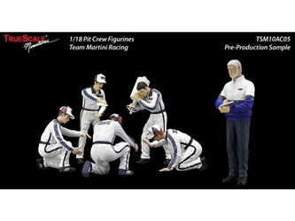 "F1 Pit Crew Figures Team ""Martini"" Racing Set of 6 pc (1:18)"