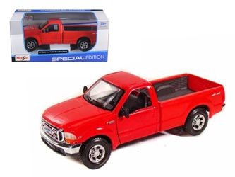 1999 Ford F-350 Super Duty Pickup Truck 4x4 Red 1:27, Maisto Item Number MST31937R