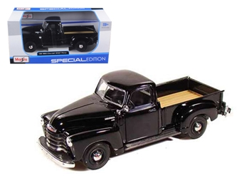 1950 Chevrolet 3100 Pickup Truck Black (1:25)