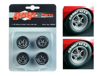 Trans Am Wheels and Tires Set of 4 from 1967 Chevrolet Camaro Z/28 Chevy-Land Heinrich  1/18 by GMP