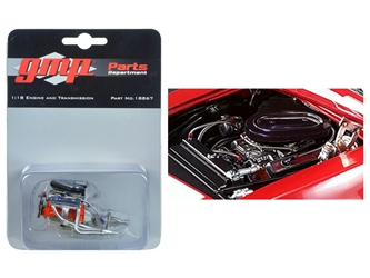 Trans Am 302 Engine and Transmission Replica from 1967 Chevrolet Camaro Z/28 Chevy-Land Heinrich 1/18 Model by GMP, GMP Item Number 18867