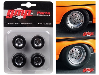 "1968 Chevrolet Nova ""1320 Drag Kings"" Wheels and Tires Set of 4 1/18 by GMP, GMP Item Number 18874"