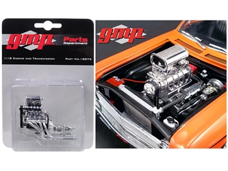 "1968 Chevrolet Nova 1320 ""Drag Kings"" Blown 572 Engine and Transmission Replica 1/18 by GMP"