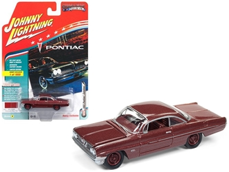 "1961 Pontiac Catalina Coronado Red Poly Limited Edition to 1800pc Worldwide Hobby Exclusive ""Muscle Cars USA"" 1/64 Diecast Model Car by Johnny Lightning"