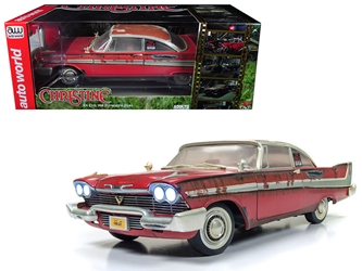 "1958 Plymouth Fury ""Christine"" Dirty / Rusted Version 1/18 Diecast Model Car by Autoworld"