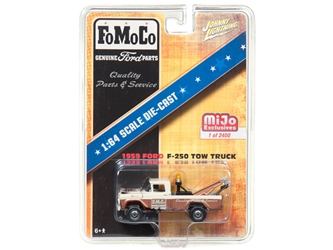 "1959 Ford F-250 Tow Truck ""FOMOCO"" Limited Edition of 2400 pieces Worldwide 1/64 Diecast Model Car by Johnny Lightning"