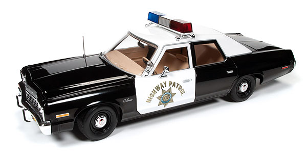 Highway Patrol - 1975 Dodge Monaco Police Car (1:18), Auto World Item Number AW112