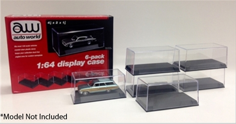 Plastic Display Cases - 6-Pack, Auto World Item Number AWAWDC008