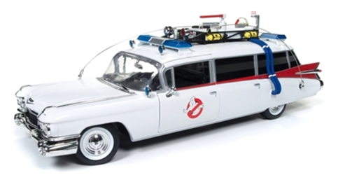 "Ghostbusters - 1959 Cadillac Ambulance ""Ecto-1"" (1:21), Auto World Item Number AWAWSS118"