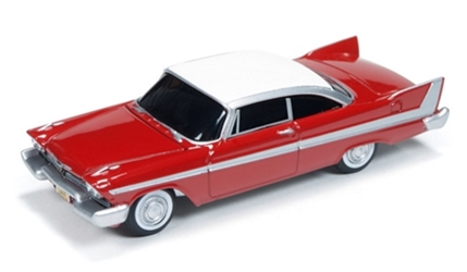 Christine - 1958 Plymouth Fury in Red (1:64), Auto World Item Number AWAWSS6401