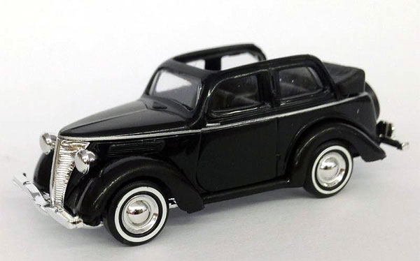 1935 Ford Convertible in Black (1:87, HO), Busch, Item Number BUSCH006552BK
