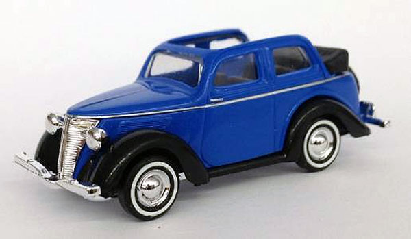 1935 Ford Convertible in Blue (1:87, HO), Busch, Item Number BUSCH006552BL