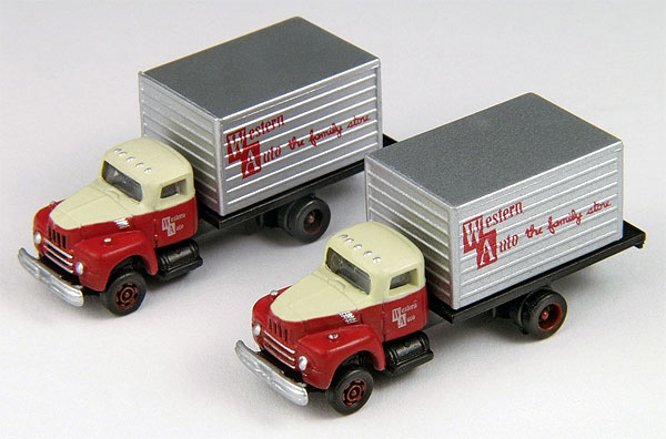 Western Auto - IH R-190 Delivery Truck Set  (1:160), Classic Metal Works Item Number CMW50350