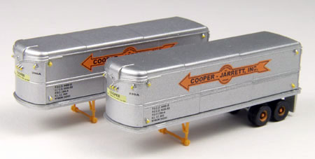 Cooper-Jarrett - 32 Aerovan Trailers Set of 2  (1:160), Classic Metal Works Item Number CMW51106