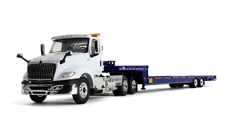 International LT in White with Ledwell Hydratail Trailer (1:34) by First Gear Item Number: FRG10-4156
