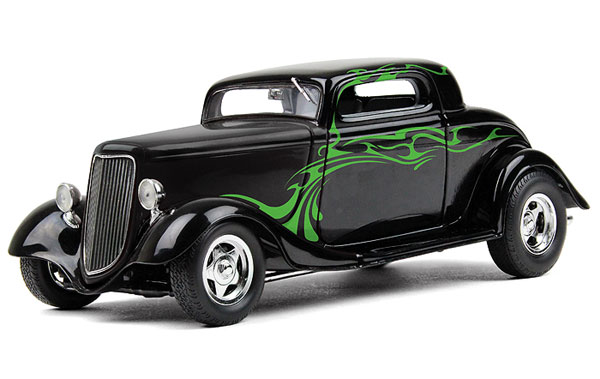 1934 Ford Coupe Street Rod diecast metal replica (1:25)