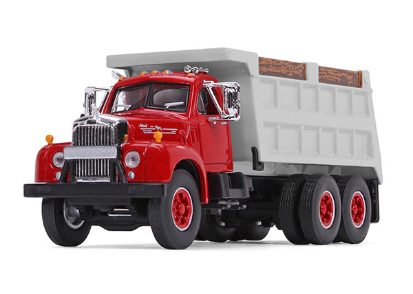 Mack B-61 Dump Truck in Red and Gray (1:64), First Gear, Item Number FRG60-0401