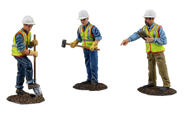 Construction Figures 3-Piece Set 1/50 by First Gear SKU FRG90-0481