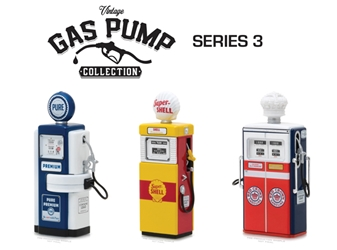 Vintage Gas Pump Collection Series 3 (1:18), Greenlight Item Number GLC14030-CASE