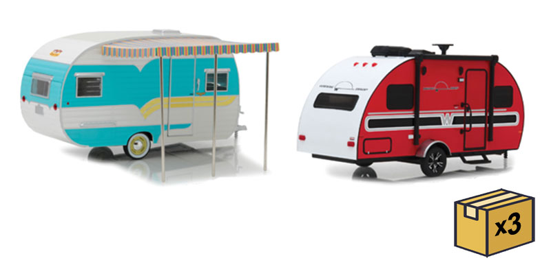 1:24 Hitch and Tow Trailers Series 5 - 6-Piece Assortment 1:24 by Greenlight Item Number GLC18450-CASE