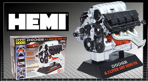 Dodge SRT-8 Engine V-8 Diecast Model KIT, Hawk Item Number 11071