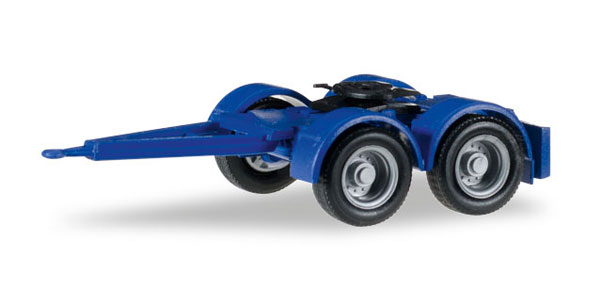 2-Axle Dolly in Blue - 4 Pieces (1:87), Herpa Item Number HE051453