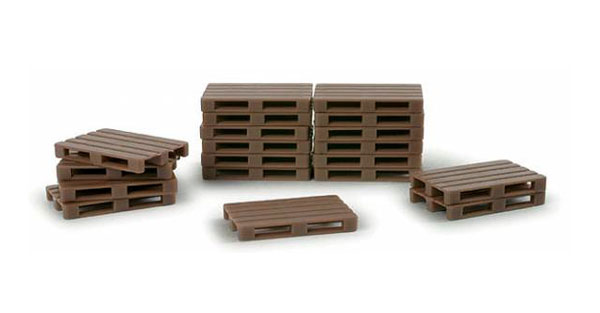Pallets - 50 Pieces European size (1:87),  Item Number HE052900