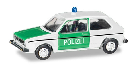 Polizei - Volkswagen Golf 1 Police Car (1:160), Herpa Item Number HE066655