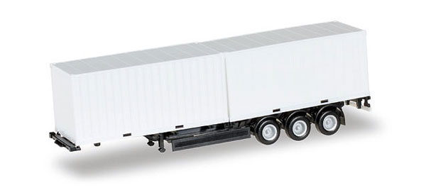 40 Krone Container Chassis with two 20 Containers (1:87), Herpa Item Number HE076494