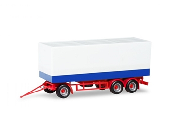 3-Axle Canvas Covered Trailer 1/87 (HO) by Herpa SKU HE076852